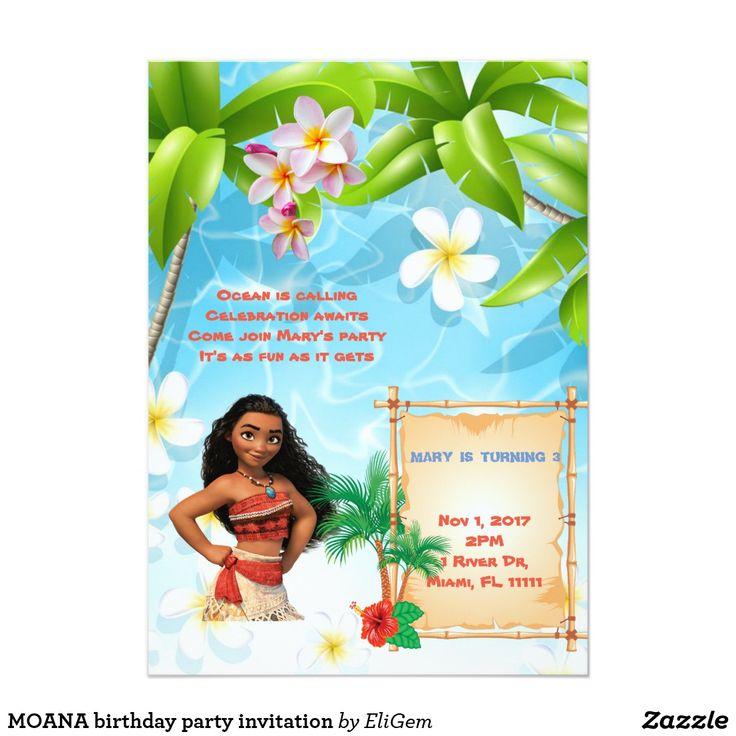 8 best custom made birthday invitations for kids moana unicorns moana birthday party invitation filmwisefo