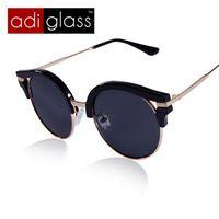 Adiglass marca 2016 nuevas mujeres de montura redonda recubrimiento hombre gafas Vintage gafas de sol moda puntos mujeres gafas de sol Oculos