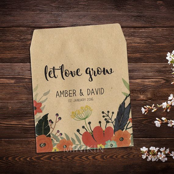 Wedding Seed Packets, Rustic Weddings, Boho Wedding, Seed Packet Favors, Flower Seed Packets, Wildflower Seeds, Seed Packets x 25