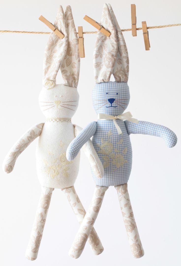 ...króliczki w stylu skandynawskim...bunny dla dziecka handmade rekodzielo nazamowieni forkids przytulanki pluszaki króliczki rękodzieło dla dzieci