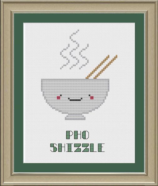 Pho shizzle: cute pho cross-stitch pattern by nerdylittlestitcher