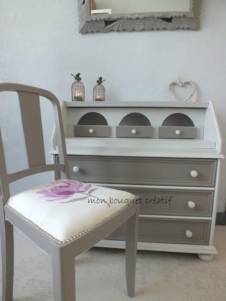 Miroir gris de su de effet voil craie meuble craie for Baton de chaise synonyme