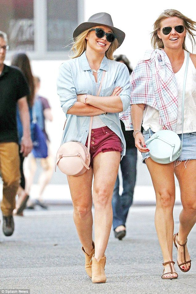 Matching! It seemed the Younger actress had co-ordinated with her friend - who wore almost...
