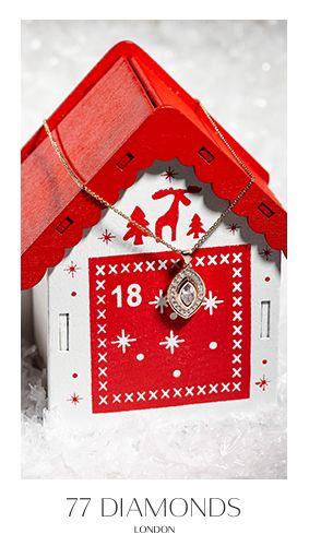 Deck the halls (and your neck) with this bespoke diamond pendant. #77Dadventcalendar #adventcalendar #Christmas