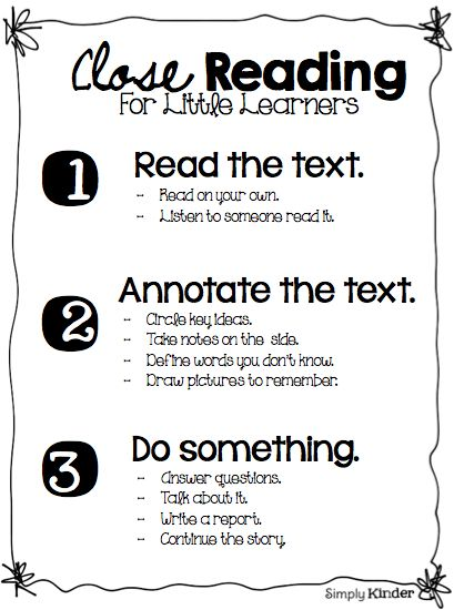 What is close reading for little learners?  What exactly does it look like?  See how Simply Kinder does it!