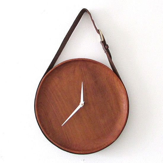 Erin of Francois et Moi saved money on her DIY teak-and-leather clock by sourcing the materials -- a plate and a belt -- at her local thrift shop. For less than $7, including the clock kit, she crafted a luxe-looking handmade clock with modern-rustic appeal.
