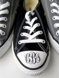 Monogrammed Chuck Taylors... now I've seen it all.  #prepster or #hipster?