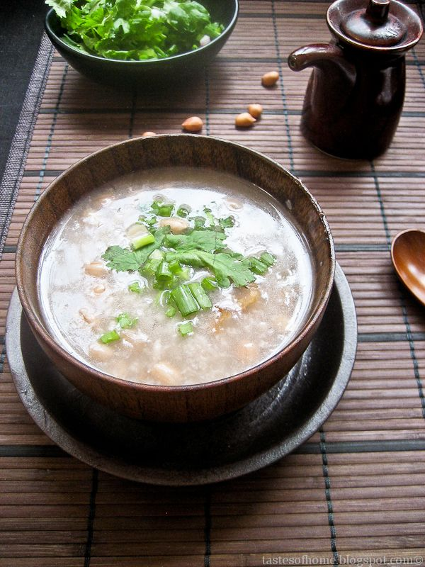 my comfort food - peanuts congee #chinese #rice #recipe