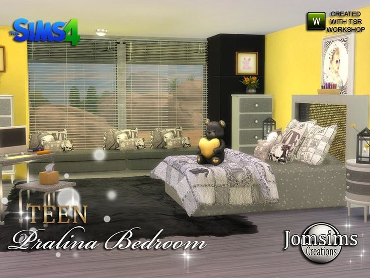 i still feel softness so here pralina teen bedroom comfortable corner for your teen sims found in tsr category u0027sims 4 kids bedroom setsu0027 - Teen Bedroom Sets