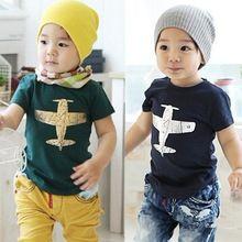 2014 ragazzi di estate t-shirt al dettaglio abbigliamento per bambini bambini t shirt aeromobili più ragazze aereo, ragazzi casuale produttori(China (Mainland))