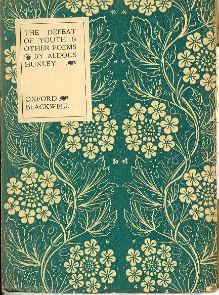 { such a pretty color + pattern } The Defeat of Youth & Other Poems by Aldous Huxley