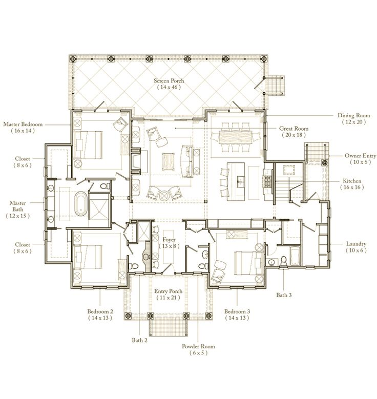 Palmetto Bluff Floor Plan