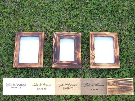 reclaimed wood picture frame set picture frame by rustichandcrafts