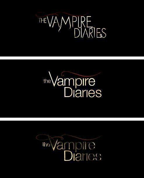 The Vampire Diaries logo changes over the seasons.