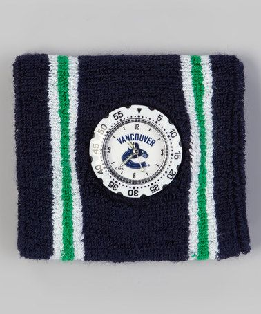 Navy & Green Vancouver Canucks Analog Sweatband Watch by Sweatband Watches on #zulily