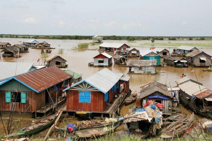 Villages flottants du Tonle Sap