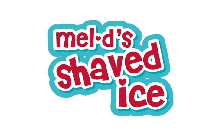 mel-d's shaved ice logo design