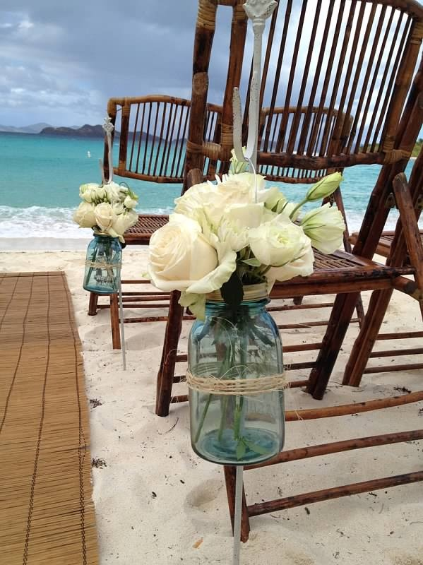 378 best wedding ceremony aisle decorations images on pinterest image detail for vintage blue mason jars with creamy white roses for beach style wedding junglespirit Images