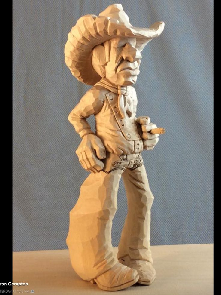 17 best images about carved cowboys on pinterest wood for Best wood to carve with