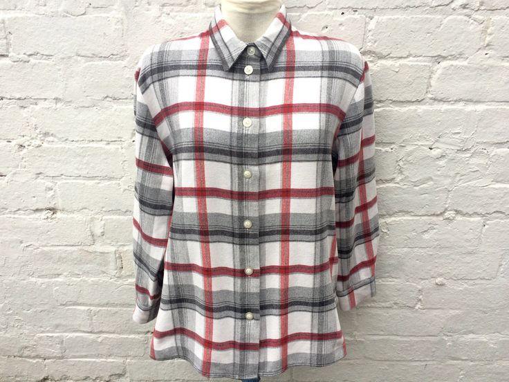 Grey flannel shirt, plaid top, oversized 90's fashion by retrobelluk on Etsy https://www.etsy.com/uk/listing/515886401/grey-flannel-shirt-plaid-top-oversized