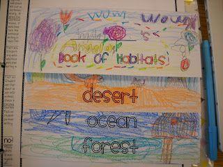 Classroom Freebies Too: Animal Habitat Flip Book