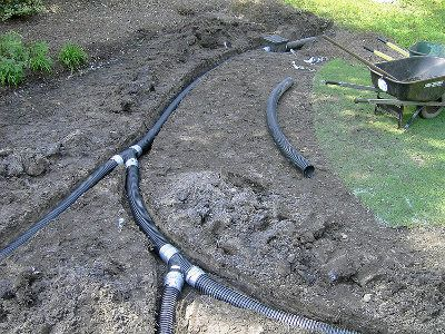 Consider drainage what is going to happen when it rains for Garden drainage system