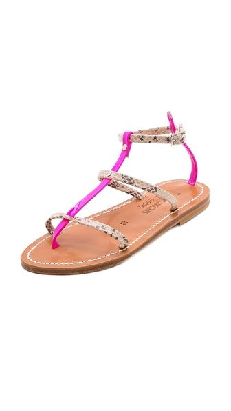 K. Jacques Gina Neon Flat Sandals $279