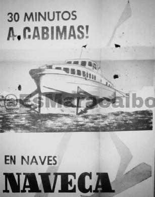 """Las recordadas """"Navecas"""". Lanchas rápidas que surcaban el lago de Cabimas a Maracaibo. #50s"""
