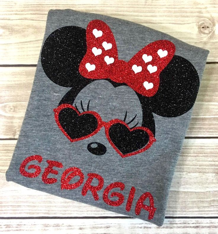 Personalized Cool Minnie Dark Gray Shirt