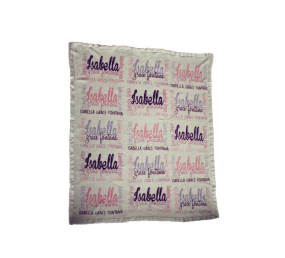 Personalised Blanket Baby Blanket Girl Blanket by TheUniqueCo