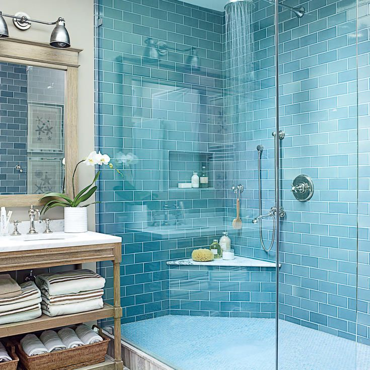 20 beautiful beachy baths mosaic bathroombeach - Bathroom Ideas Beach