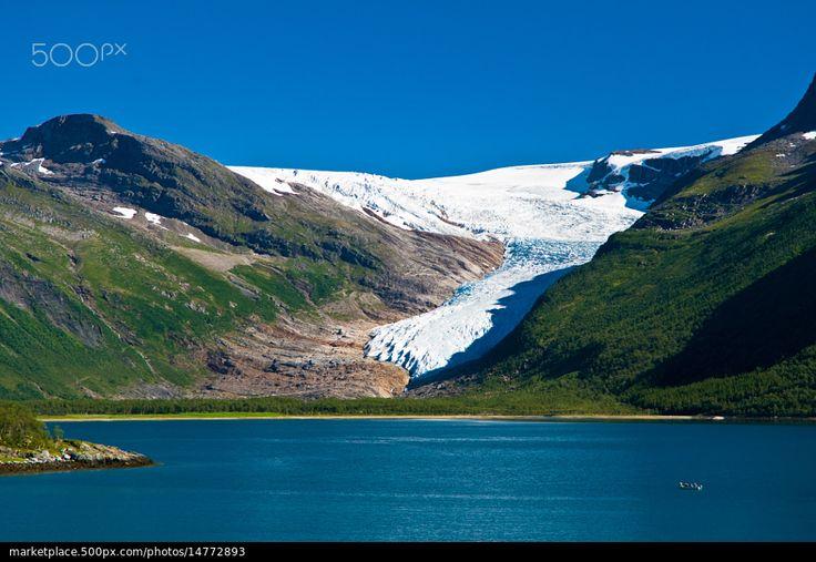 Svartisen Glacier , Northern Norway - stock photo