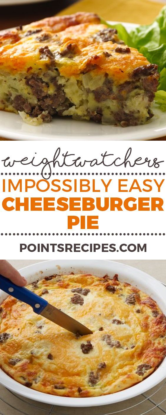 Impossibly Easy Cheeseburger Pie (Weight Watchers SmartPoints)