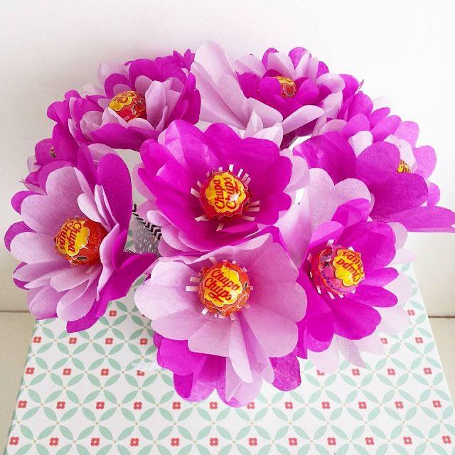 Bouquet di lecca lecca - bouquet, lecca lecca, chupa chups, flowers, fiori, carta velina, tissue paper, idea regalo