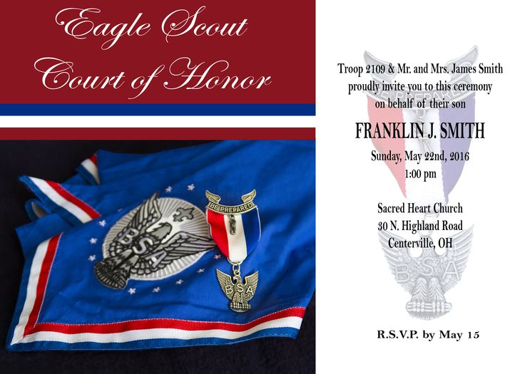 Eagle Scout Court Of Honor Here Is My Latest Free