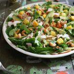 Foodblogswap: Aziatische salade met gerookte kip, mango en avocado