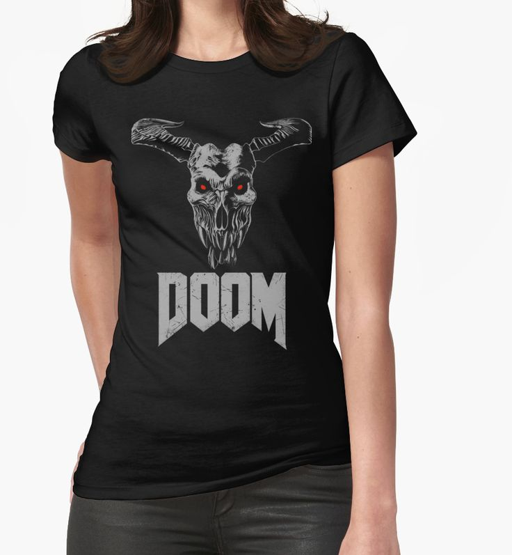 """Doom - Icon of Sin V2"" Womens Fitted T-Shirts by Remus Brailoiu 
