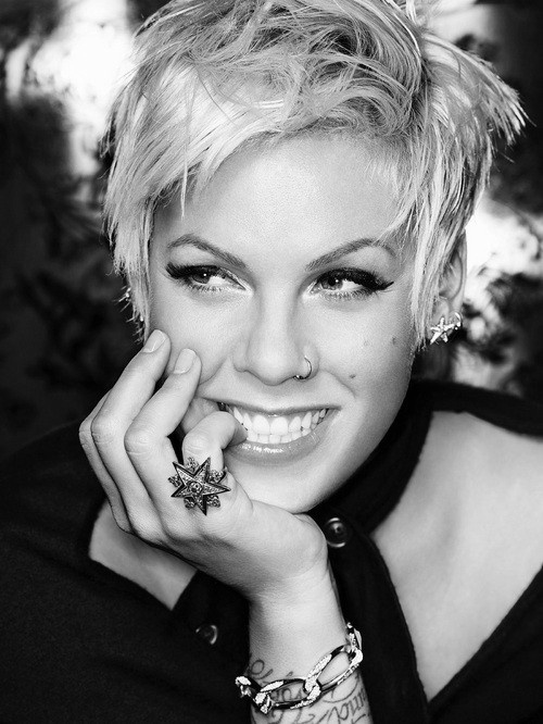Pink (Alecia Moore). Kickass woman brilliant singer / songwriter <3. CAN't wait for FEB 13