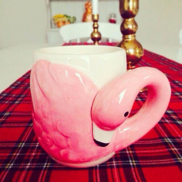 Flamingo coffee mug YES