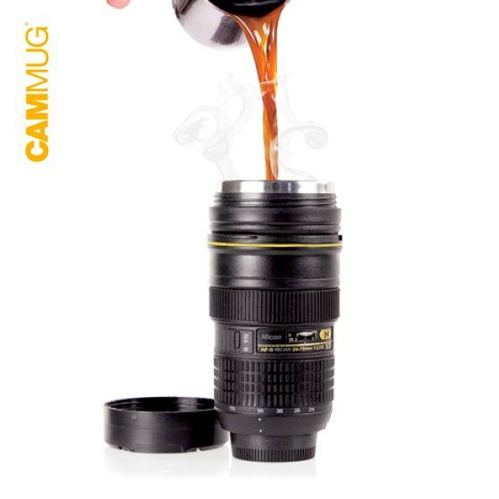 Taza Termo Objetivo Cámara / Camera Lens Vacuum Flask Mug · Tienda de Decoración y Regalos originales UniversOriginal