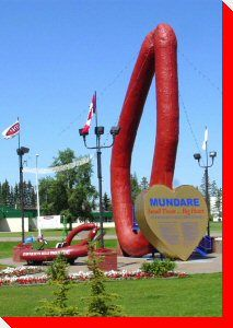 Ukrainian sausage, Mundare, AB This might be the worst roadside attraction in Alberta. I mean, what does this look like?