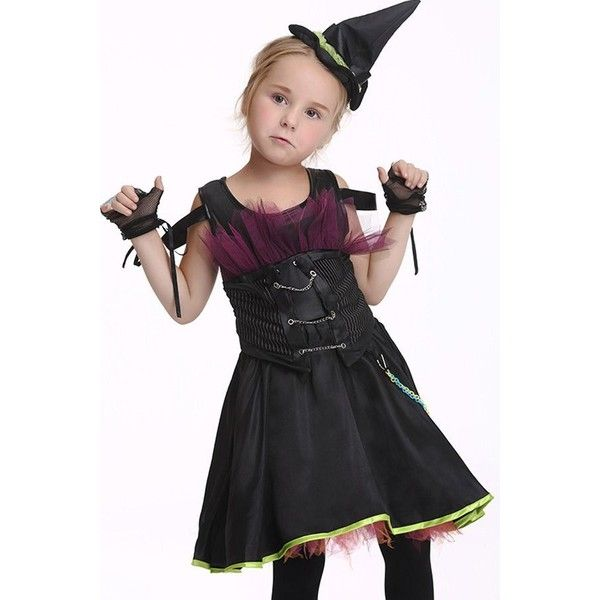black moonlight witch fancy dress kids halloween costume 32 liked on polyvore featuring