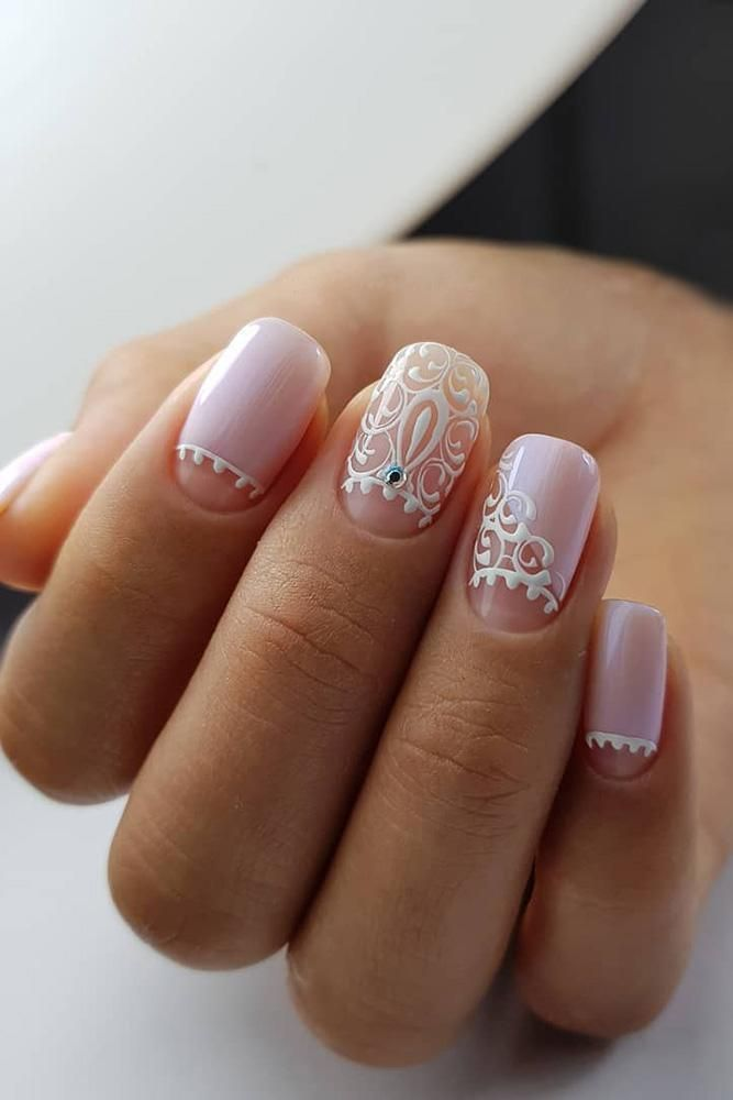 The Best Wedding Nails 2020 Trends Lace Nails Bridal Nail Art