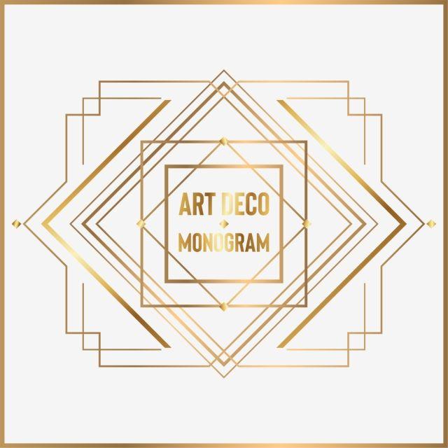 Art Deco Monogram Art Deco Monogram Deco Deco Invitations