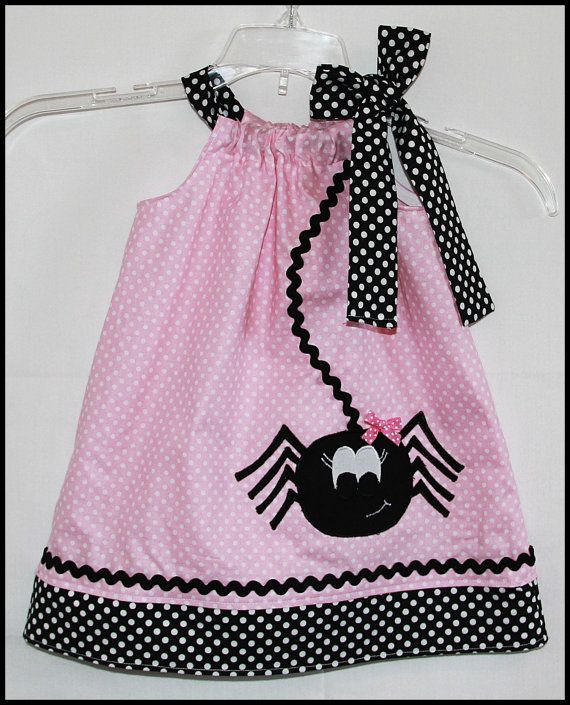 Super+Cute+Halloween+Girly+Spider+Applique+by+LilBitofWhimsyCoutur,+$25.00