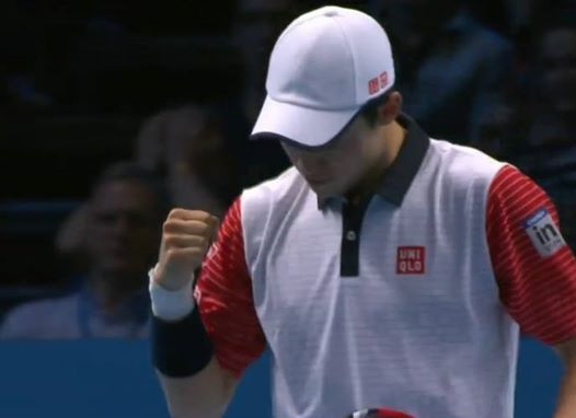 It's all Kei Nishikori! He wins 6-4, 6-4 to beat Andy Murray in his ATP World Tour Finals debut - impressive start!