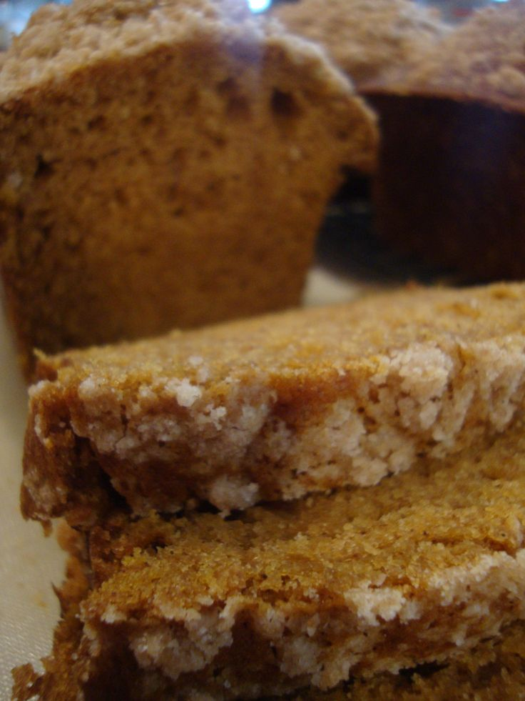 Easy Pumpkin Bread with crumble topping- just made it this morning, it was so yummy!!