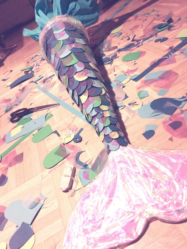 Fancy D.I.Y. Cornet. Schultüte as iridescent mermaid fin. Is guaranteed loved! elephant shows you how you do it yourself …