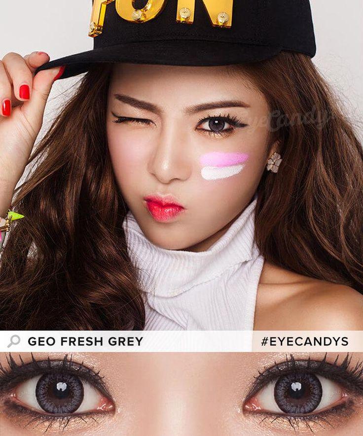 GEO Fresh Grey (Custom Toric) Circle lenses, Grey
