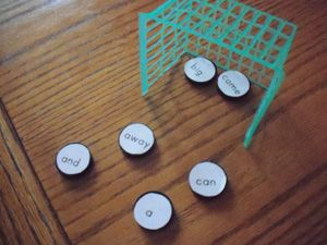 Sight Word Hockey! Could be used for ANYTHING!  Great idea.....wheels are spinning....
